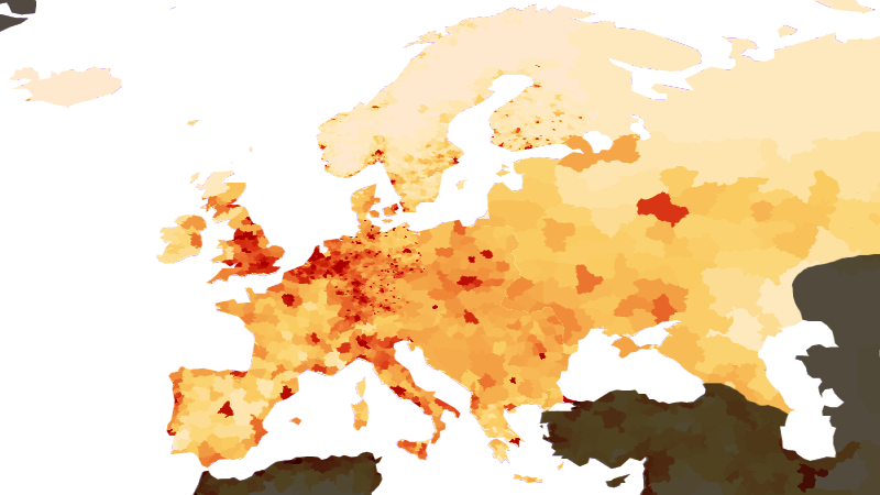 Population density in the EU-27